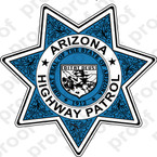 STICKER ARIZONA HIGHWAY PATROL SHIELD