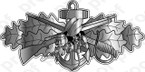 STICKER USN COMBAT SEABEE BADGE SILVER