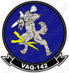 STICKER USN VAQ 142 Grey Wolves