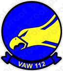 STICKER USN VAW 112 Golden Hawks