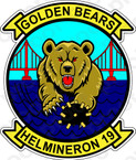 STICKER USN HM 19 Golden Bears