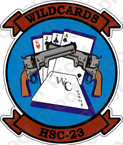 STICKER USN HSC 23 WILDCARDS