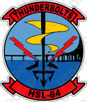 STICKER USN HSL 84 Thunderbolts