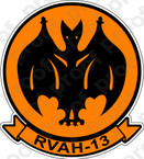 STICKER USN RVAH 13 Bats