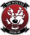 STICKER USN HSM 40 Air Wolves