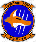 STICKER USN HSM 74 Swamp Fox