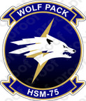 STICKER USN HSM 75 Wolf Pack