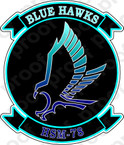 STICKER USN HSM 78 Blue Hawks