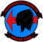STICKER USN RVAH 5 Savage Sons