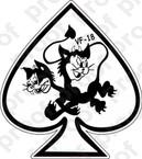 STICKER USN VF 18 BLACK CATS