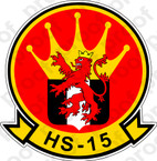 STICKER USN HS 15 Red Lions