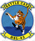 STICKER USN HSL 43 Battle Cats