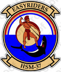 STICKER USN HSM 37 Easyriders