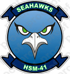 STICKER USN HSM 41 Seahawks