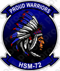 STICKER USN HSM 72 Proud Warriors