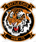 STICKER USN HSM 73 Battle Cats