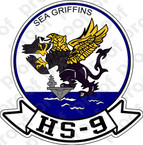 STICKER USN HS 9 SEA GRIFFINS