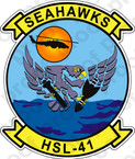 STICKER USN HSL 41 SEAHAWKS