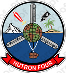 STICKER USN HU 4 HELICOPTER UTILITY DETACHMENT