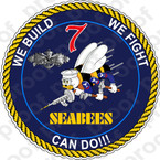 STICKER USN MCB 7 SEABEE CAN DO