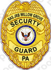 STICKER USN NAVY SECURITY OFFICER BADGE WILLOW GROVE