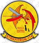 STICKER USN VF 174 HELLS RAZORS
