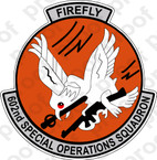 STICKER USAF 602ND SOS FIREFLY