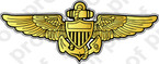 STICKER USN NAVAL AVIATION WINGS