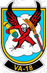 STICKER USN VA  18 Devils Diplomants