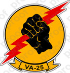 STICKER USN VA  25 FIST OF THE FLEET