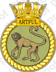 British Navy HMS Artful Sticker