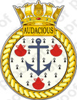 British Navy HMS Audacious Sticker