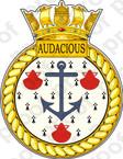 British Navy HMS Audacious Sticker