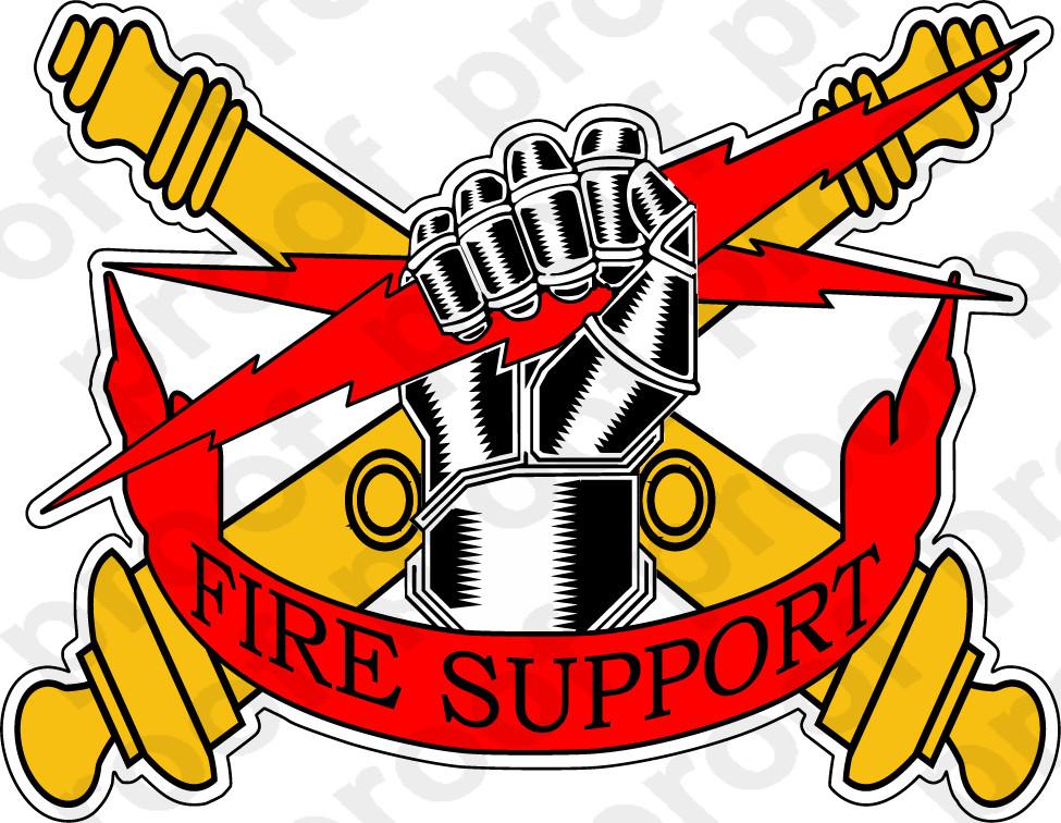 Sticker Fire Support Team M C Graphic Decals