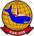 STICKER USN VAK 208 THE JOCKEYS