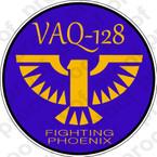 STICKER USN VAQ 128 FIGHTING PHOENIX