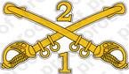 STICKER U S ARMY BADGE 1st 2nd Cavalry Sabers