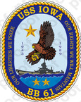 STICKER USN US NAVY BB 61 USS IOWA