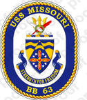 STICKER USN US NAVY BB 63 USS MISSOURI