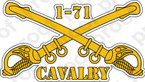 STICKER U S ARMY BADGE Cavalry Sabers 1-71