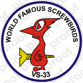Sticker Usn Vs 33 Screwbirds M C Graphic Decals
