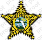 STICKER SHERIFF LEE COUNTY