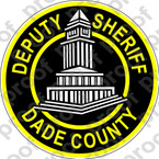 STICKER POLICE DADE COUNTY SHERIFF