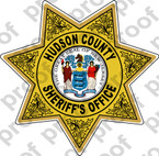 Sticker Police Hudson County Sheriff Department Badge