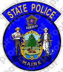 STICKER MAINE STATE POLICE