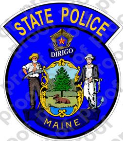 Sticker Maine State Police M C Graphic Decals