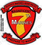 STICKER USMC UNIT   7TH MARINE REGIMENT C
