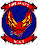 STICKER USN HCS 5 FIREHAWKS