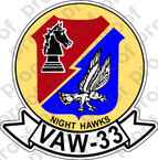 STICKER USN VAW 33 NIGHT HAWKS