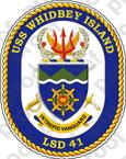 STICKER USN LSD 41 USS WHIDBEY ISLAND